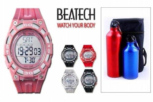 Cheap Sopra Beatech BH5000P FL55 Beatech Heart Rate Monitor-Alarm clock-Stopwatch-Countdown Timer Watch with Aluminum Camping Bottle Set (Beatech BH5000P + FL55)