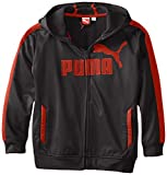 PUMA Big Boys Logo Poly Fleece Zip Up