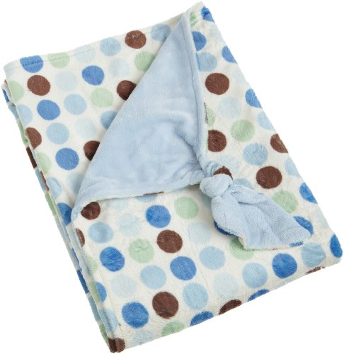 Nursery Products Carters Knot Blanket Blue Polka Dot