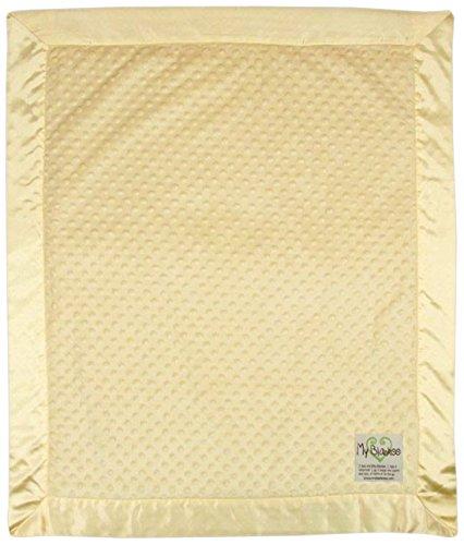 "My Blankee Minky Dot Baby Blanket, 30"" x 35"", Yellow"