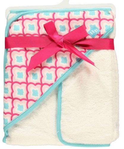 "Hudson Baby ""Sweet Water"" Hooded Towel & Washcloth - fuchsia"