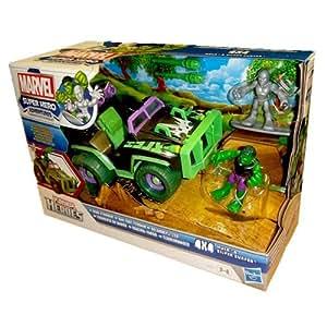 Playskool Heroes Mud-Stormin' 4x4 with Hulk and Silver Surfer Vehicle Set