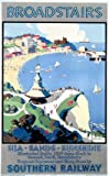 Broadstairs, England. English Travel Poster, Sea, Sands, Sunshine by Southern Railway