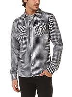 BIAGGIO Camisa Hombre Chourkif (Azul Marino)
