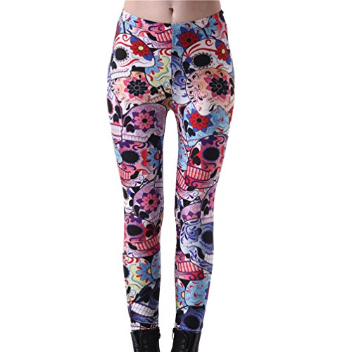 Day Of The Dead Skull Leggings