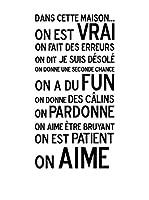 """Ambiance-sticker Vinilo Decorativo """"Dans cette maison, on Aime"""""""