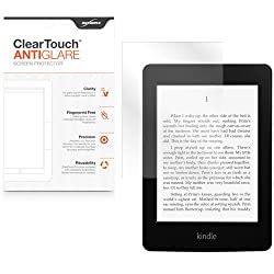 BoxWave Amazon Kindle Paperwhite ClearTouch Anti-Glare Screen Protector (Single Pack with Cleaning Cloth and Applicator Card) - Matte Anti-Fingerprint Screen Guard Cover for the Kindle Paperwhite