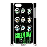 Music Band Green Day iPhone 5 Case Covers Rock Band Billie Joe Armstrong Mike Dirnt Tre Cool Jason White Red/Green iPhone 5 Case