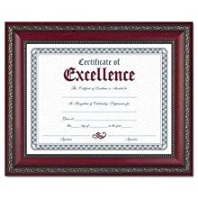 Dax World Class Document Frame with Certificate, Rosewood, 8 1/2 x 11 Inches (N3245N3T)
