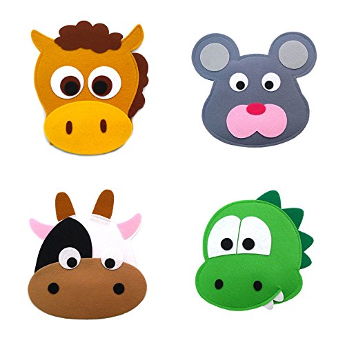 Animal Headband masks horse+mouse+cow+dinosaur