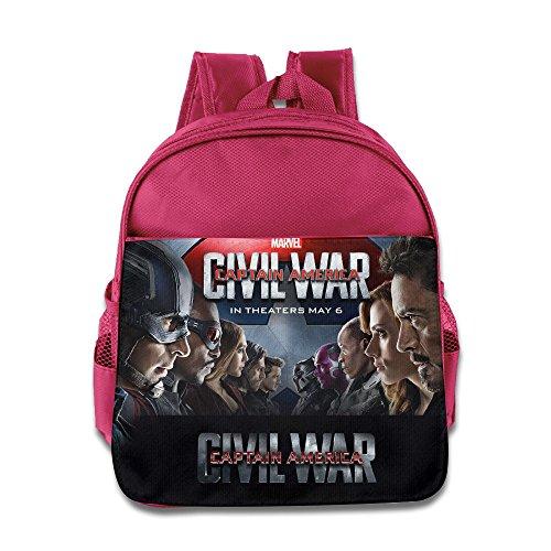 Captain America Civil War 2016 Kids School Backpack Bag Pink (Peggy Carter Captain America 2)
