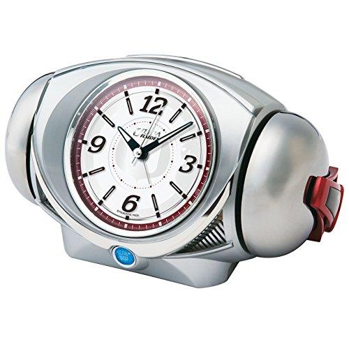 SEIKO CLOCK(セイコークロック) ウルトラ RAIDEN(ライデン)大音量目覚まし時計 クオーツ ウルトラマン (銀色メタリック塗装) CQ141S