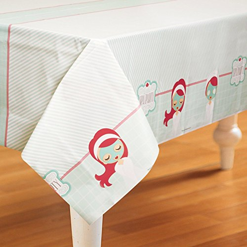 Little Spa Party Plastic Tablecover - 1