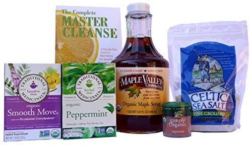 Maple Valley 5 Day Organic Master Cleanse Lemonade Detox/ Diet Kit with Book The Complete Master Cleanse (Master Cleanse Tea compare prices)
