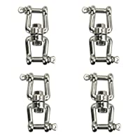 Four Stainless Steel Jaw and Jaw Swivels