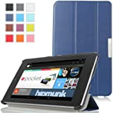 Moko Ultra Slim Lightweight Smart-shell Stand Case for Google Nexus 7 Inch Tablet by Asus with Smart Cover Auto Wake/sleep - Indigo