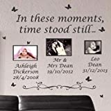 Large In These Moments Time Stood Still Wall Quote Stickers Wall Decal Words Lettering-Yellow