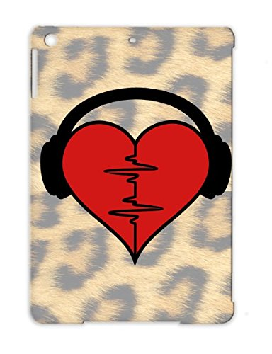 Red Tpu Protective Case For Ipad Air Heartrate Music Music Monitor Blood Rave Rhythm Love Gabba Cue Life Fitness Mp3 Ekg Eeg Dance Beat Valentine Miscellaneous Oscillator Relationship Romance Dj Health Electrocardiogram Heartbeat Headphones 2C 2 Anti-Shoc