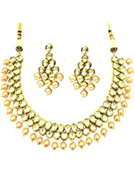 SatyamJewelleryNx Artificial Kundan Necklace Set For Women Fashion Jewellery