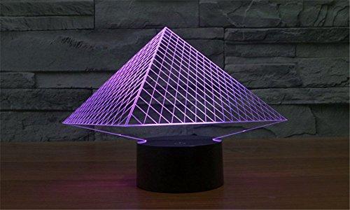 SmartEra-7-Farben-ndern-3D-optische-Tuschung-USB-Powered-gyptischen-Pyramiden-touch-Tasten-Stimmungs-Lampen-Beleuchtung-Gadget-Schreibtischlampe