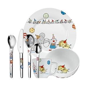 wmf 1285709984 39 circus 39 7 piece children 39 s cutlery set kitchen home. Black Bedroom Furniture Sets. Home Design Ideas