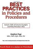 Best Practices in Policies and Procedures