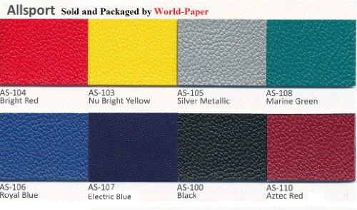 Allsport Vinyl Upholstery Fabric Material 4-Way Stretch(Electric Blue)