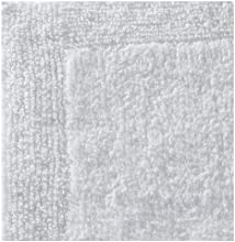 Regence Home Reversible Cotton Bath Rug 17 by 23-Inch White