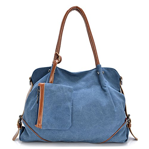 Niktest Womens New Lisiting Fashion Canvas Large Shoulder Bag Blue
