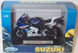 Welly white suzuki GSX-R750 bike 1.18 scale diecast model