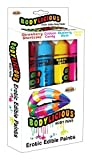 Hott Products Bodylicious Edible Body Paint Pens, Red/Pink/Blue/Yellow, 0.81 Pound