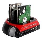 Tumaoハードディスクスタンド ハードディスク スタンド 2.5/3.5 HDDスタンド HDDクローンスタンド多機能ハードディスクスタンドハードディスクケース (レッド・ブラック)
