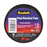 3M Scotch Vinyl Electrical Tape, .75-Inch by .007-Inch by 66-Feet