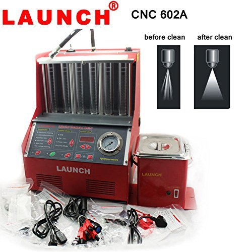 Autool Launch CNC-602A Fuel Injection System Cleaning Tools CNC602A Injector Cleaner and Tester with 110V Transformer (Toyota Injector Cleaner compare prices)