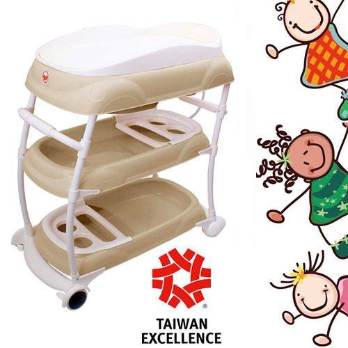 babybad badewanne wickeltisch kombi wickeltisch aufsatz babywanne mobil beige. Black Bedroom Furniture Sets. Home Design Ideas