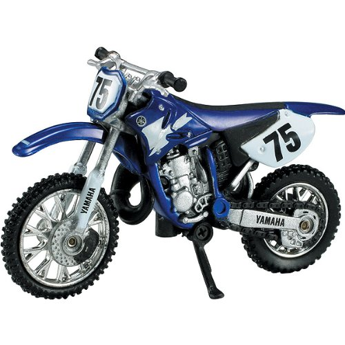 New Ray Yamaha YZ125 Replica Motorcycle Toy - Blue / 1:32 Scale