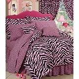 Karin Maki Zebra Complete Bedding Set, Queen, Pink