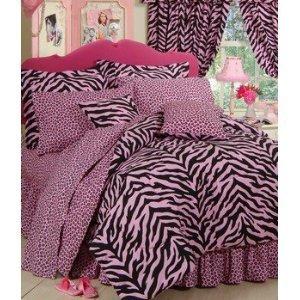 Zebra Hot Pink Bedding front-183230