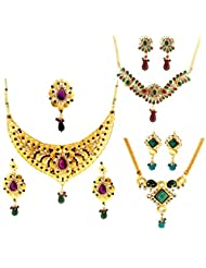 Dg Jewels Bollywood Traditional Ethnic Necklace Set Combo-DGENS Combo 104