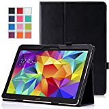 MoKo Samsung Galaxy Tab S 10.5 Case - Slim Folding Cover Case for Samsung Galaxy Tab S 10.5 Inch Android Tablet, BLACK (With Smart Cover Auto Wake / Sleep)