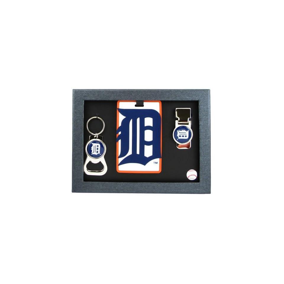 Detroit Tigers   MLB Bottle Opener Key Ring, Luggage Tag, Money Clip Gift Set