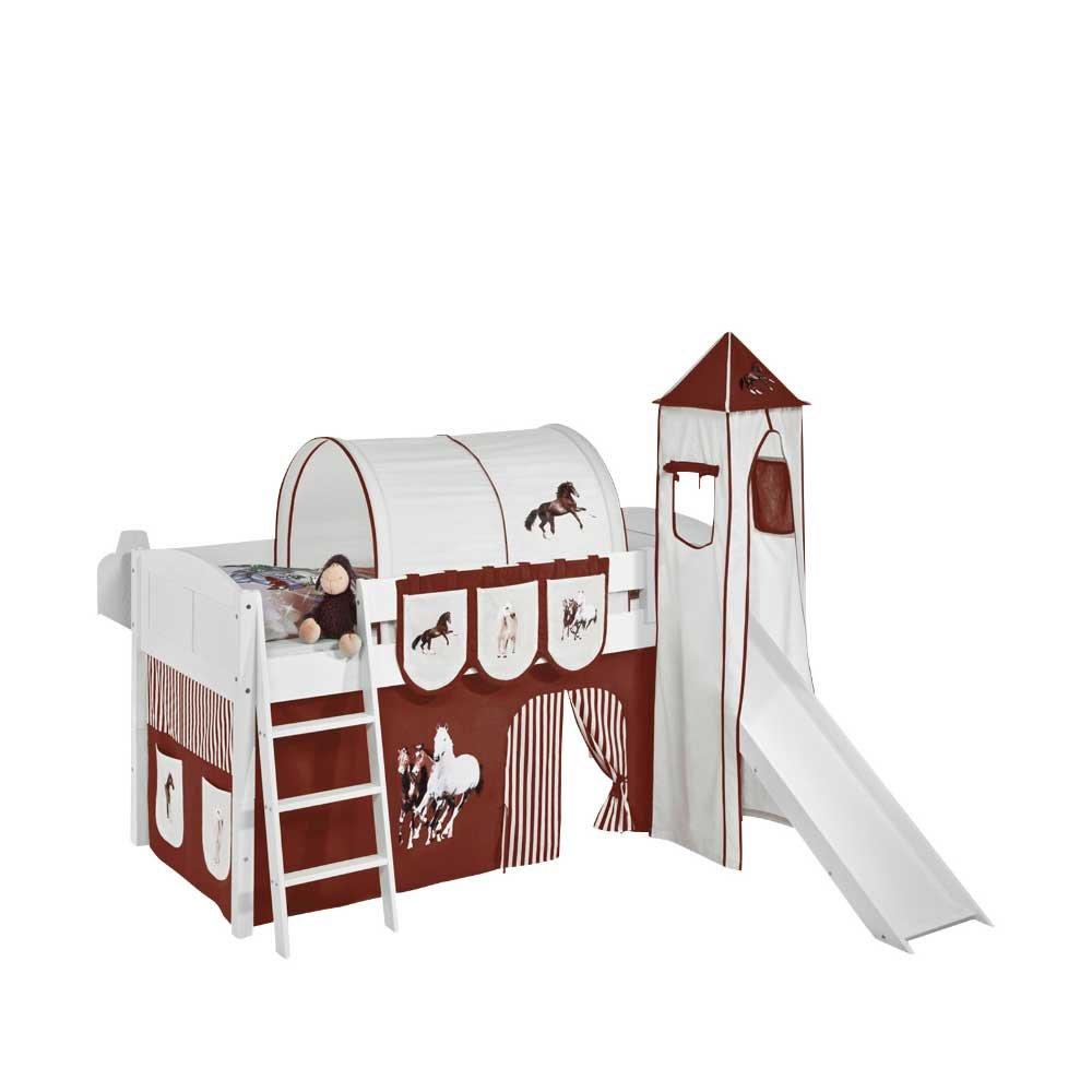 Kinderspielbett im Pferde Design Rutsche Pharao24