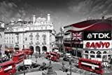 Maxi Poster featuring Eye Catching Colour Light Photography of Piccadilly Circus in London 61x91.5cm