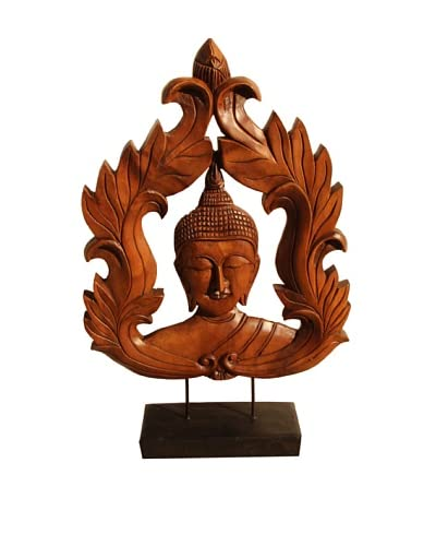 Asian Art Imports Carved Buddha Face