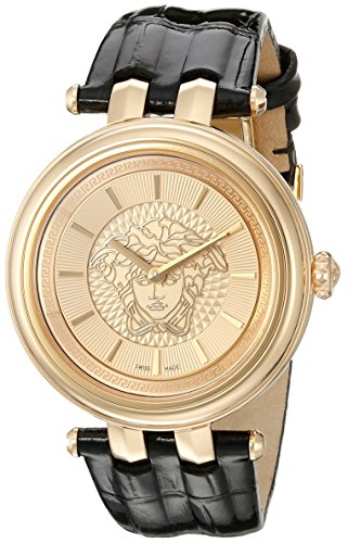 Versace-Womens-VQE030015-KHAI-Stainless-Steel-Watch-With-Black-Leather-Band