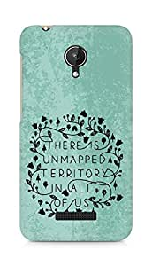 AMEZ there is unmapped territory in all of us Back Cover For Micromax Canvas Spark Q380