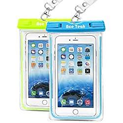 2 Pack Ace Teah Clear Universal Waterproof Case Dry Bag Pouch