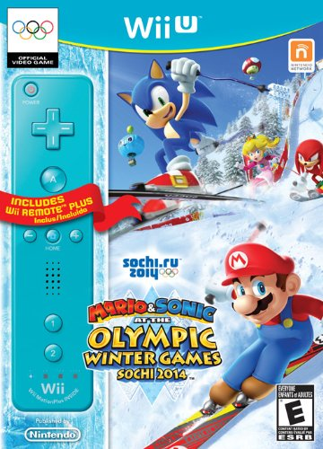 Mario & Sonic at the Olympic Games - Sochi 2014 - Blue Wii Remote Plus (Wii U)