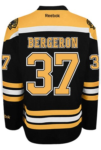 c2ff8fbd Boston Bruins Patrice Bergeron #37 *A* Official Home Reebok NHL Hockey  Jersey (SEWN TACKLE TWILL NAME / NUMBERS)