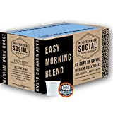 Neighborhood Social, Easy Morning Blend Medium Dark Roast Gourmet Coffee, 80 count Single Serve Cups